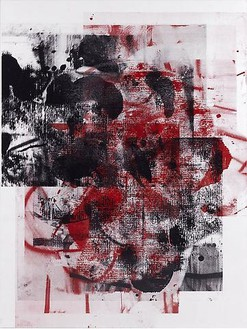Christopher Wool, Untitled, 2009 Silkscreen ink on linen, 96 × 72 inches (243.8 × 182.9 cm)