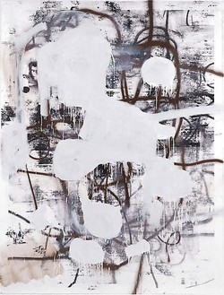 Christopher Wool, Untitled, 2010 Silkscreen ink and enamel on linen, 126 × 96 inches (320 × 243.8 cm)