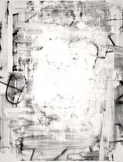 Christopher Wool, Untitled, 2009 Silkscreen ink and enamel on linen, 126 × 96 inches (320 × 243.8 cm)