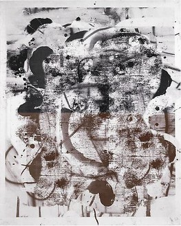 Christopher Wool, Untitled, 2009 Silkscreen ink on linen, 120 × 96 inches (304.8 × 243.8 cm)