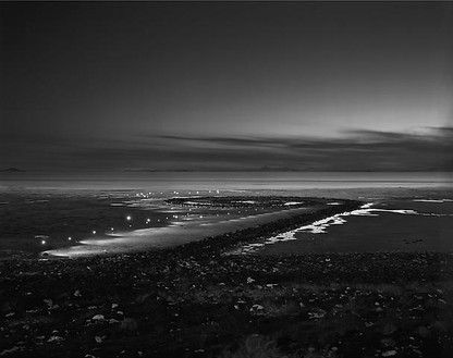 Florian Maier-Aichen, One Day at Spiral Jetty, 2009 Gelatin silver print, framed: 9 ½ × 12 inches (24.1 × 30.5 cm), edition of 6