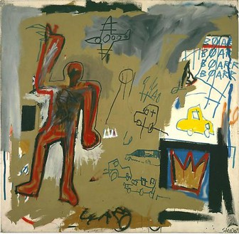 Jean-Michel Basquiat, Untitled (Red Man), 1981 Mixed media on canvas, 81 ½ × 83 ½ inches (207 × 212.1 cm)
