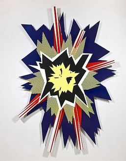 Roy Lichtenstein, Explosion II, 1965 Enamel on steel, 88 × 60 × 4 ½ inches (223.5 × 152.4 × 11.4 cm)© Estate of Roy Lichtenstein