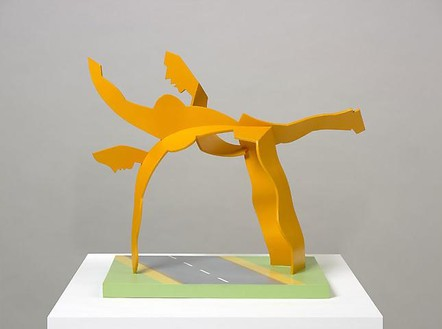 Allen Jones, Archway, 2008 Painted wood, 21 ⅜ × 26 ¾ × 13 ¾ inches (54.4 × 68 × 35 cm)