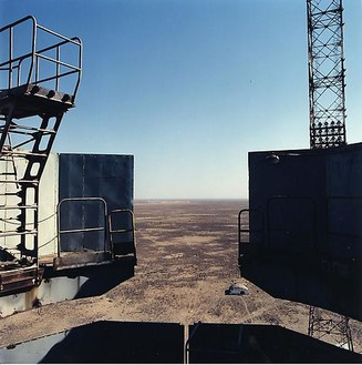 Jane & Louise Wilson, Proton Launchpad, 2000 Chromogenic print, 70 ¾ × 70 ¾ inches (180 × 180 cm), edition of 4