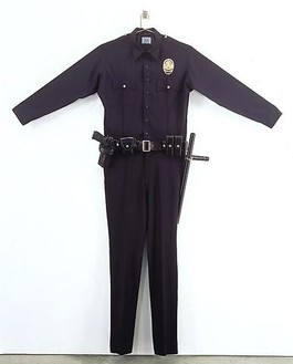 Chris Burden, L.A.P.D. Uniform, 1994 Fabric, leather, wood, metal, and plastic, 88 × 72 × 6 inches (223.5 × 182.9 × 15.2 cm), edition of 30© Chris Burden/Licensed by the Chris Burden Estate and Artists Rights Society (ARS), New York