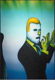 Ed Paschke, Mandrix, 1977 Oil on canvas, 70 × 48 inches (177.8 × 121.9 cm)