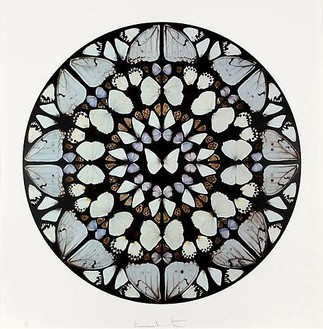 Damien Hirst, Psalm Print: Benedictus Dominis, 2009 Silkscreen print with glaze, 43 × 42 ⅜ inches (109 × 107.5 cm), edition of 50© Damien Hirst and Hirst Holdings Ltd. All rights reserved, DACS 2010