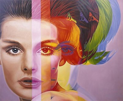 Richard Phillips, Spectrum, 2009 Printed canvas, 30 × 36 ½ inches (76.2 × 92.7 cm)Produced by Art Production Fund© Richard Phillips