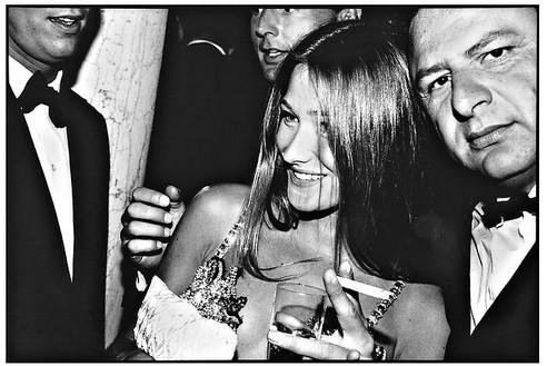 Jean Pigozzi, Carla Bruni and Jean Pigozzi, Venice, Italy, 1991, 1991 Archival pigment print, 11 × 14 inches (27.9 × 35.6 cm), edition 30© Jean Pigozzi