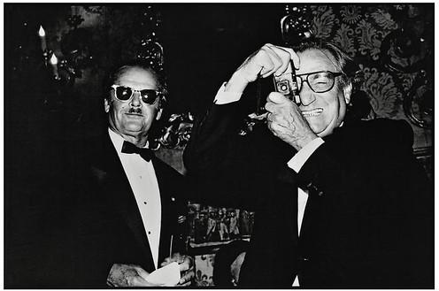 Jean Pigozzi, Jack Nicholson and Willy Rizzo, Venice, Italy, 1991, 1991 Archival pigment print, 11 × 14 inches (27.9 × 35.6 cm), edition of 30© Jean Pigozzi