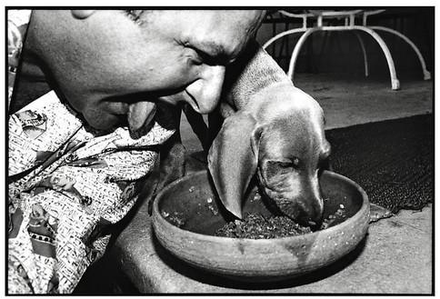 Jean Pigozzi, Jean Pigozzi and Henry, Villa Dorane, Antibes, France, 1992, 1992 Archival pigment print, 11 × 14 inches (27.9 × 35.6 cm), edition of 30© Jean Pigozzi