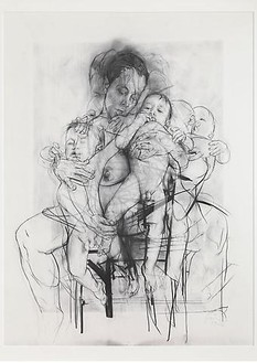 Jenny Saville, Reproduction drawing I (after the Leonardo cartoon), 2009–10 Pencil on paper, 89 ⅛ × 69 ½ inches (226.3 × 176.5 cm)© Jenny Saville