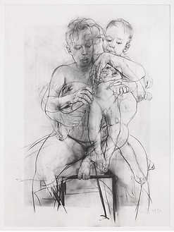 Jenny Saville, Reproduction drawing III (after the Leonardo cartoon), 2009–10 Pencil on paper, 89 ⅛ × 69 ½ inches (226.3 × 176.5 cm)© Jenny Saville