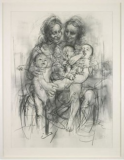 Jenny Saville, Reproduction drawing IV (after the Leonardo cartoon), 2010 Pencil on paper, 89 ¼ × 69 ⅝ inches (226.8 × 176.8 cm)© Jenny Saville