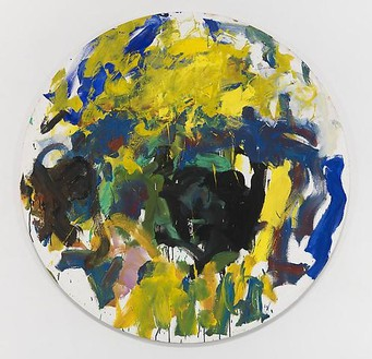 Joan Mitchell, Tondo, 1991 Oil on canvas, 59 inches diameter (149.9 cm)© Estate of Joan Mitchell. Courtesy of the Joan Mitchell Foundation