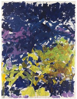 Joan Mitchell, La Grande Vallée XVI, Pour Iva, 1983 Oil on canvas, 102 ⅜ × 78 ¾ inches (260 × 200 cm)© Estate of Joan Mitchell. Courtesy of the Joan Mitchell Foundation