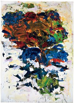 Joan Mitchell, Yves, 1991 Oil on canvas, 110 ¼ × 78 ¾ inches (280 × 200 cm)© Estate of Joan Mitchell. Courtesy of the Joan Mitchell Foundation