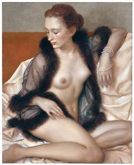 John Currin, Mademoiselle, 2009 Oil on canvas, 42 × 34 inches (106.7 × 86.4 cm)© John Currin