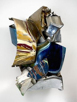 John Chamberlain, Dee Dee Bitch, 1976 Automobile metal relief, 51 × 37 × 19 inches (129.5 × 94 × 48.3 cm)© Fairweather & Fairweather LTD/Artists Rights Society (ARS), New York