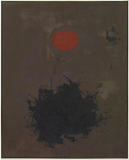 "Adolph Gottlieb, ""ANTIPODES"" (Opposite Ends), 1959 Oil on canvas, 90 × 72 inches (228.6 × 182.9 cm)Photo: Douglas M. Parker Studio"