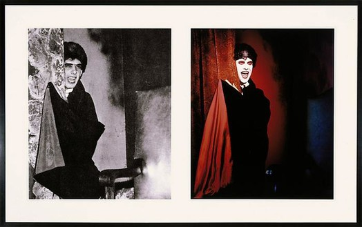 Mike Kelley, Extracurricular Activity Projective Reconstruction #20 (Lonely Vampire), 2005 Piezo print on rag paper and chromogenic print, each image: 30 × 25 ½ inches (76.2 × 64.8 cm), edition of 5