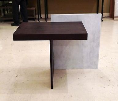 RT Studio, No Title (desk), 2009 White and dark redwood, 32 × 54 × 22 inches (81.3 × 137.2 × 55.9 cm), 1 of 5 unique versions© RT Studio