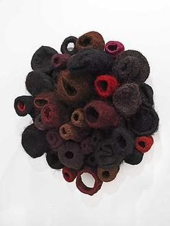 Piotr Uklański, Untitled (Cockatrice), 2009 Jute, linen, sisal, and aluminum, 59 ½ × 50 ½ × 25 ¼ inches (151 × 128 × 64 cm)