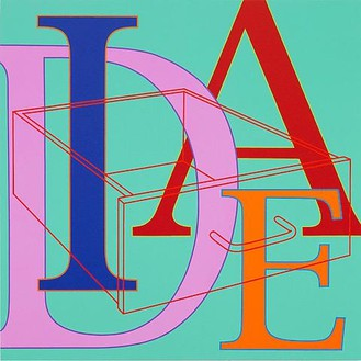 Michael Craig-Martin, Untitled (Idea), 2010 Acrylic on aluminum, 24 × 24 inches (60 × 60 cm)