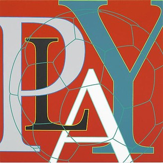 Michael Craig-Martin, Untitled (Play), 2010 Acrylic on aluminum, 24 × 24 inches (60 × 60 cm)