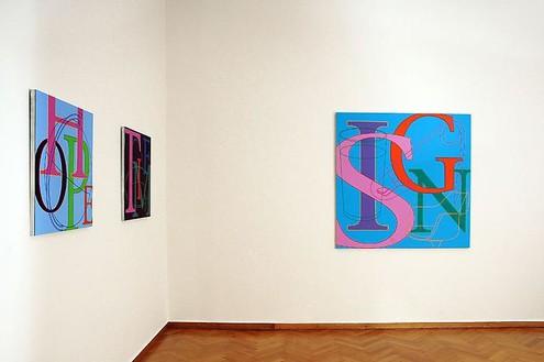 Michael Craig-Martin Installation view, photo by Petros Athanasakos