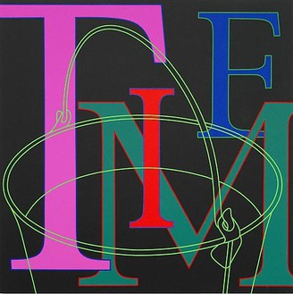 Michael Craig-Martin, Untitled (Time), 2010 Acrylic on aluminum, 24 × 24 inches (60 × 60 cm)