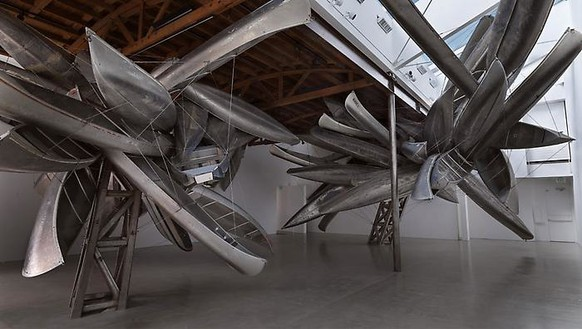 Nancy Rubins: Skins, Structures, Landmasses Installation view, photo by Erich Koyama