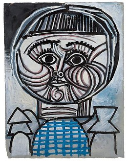 Pablo Picasso, Portrait d'enfant: Paloma, 1952 Oil on gouache-primed paper, 26 × 20 inches (66 × 51 cm)© 2010 Estate of Pablo Picasso/Artists Rights Society (ARS), New York