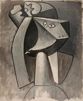 Pablo Picasso, Tête à la coiffe, April 17, 1947 Oil on canvas, 28 ¾ × 23 ½ inches (73 × 60 cm)© 2010 Estate of Pablo Picasso/Artists Rights Society (ARS), New York