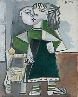 Pablo Picasso, Paloma debout, April 16, 1954 Oil on canvas, 39 ½ × 31 ¾ inches (100 × 81 cm)© 2010 Estate of Pablo Picasso/Artists Rights Society (ARS), New York