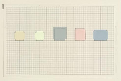 Rachel Whiteread, 5 Stone, Cement, Plaster, 2010 Gouache and pencil on graph paper, 8 ¼ × 11 ⅝ inches (21 × 29.5 cm)© Rachel Whiteread