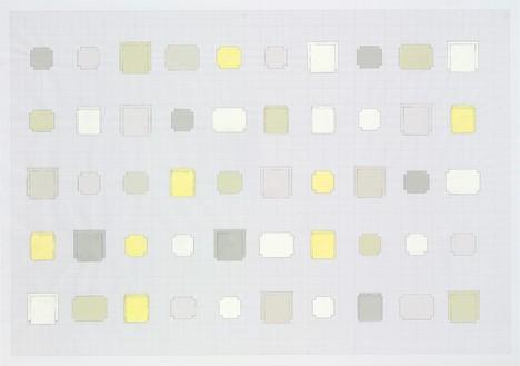 Rachel Whiteread, 50 Stone, Cement, Plaster, 2010 Gouache and pencil on graph paper, 23 ⅛ × 33 ⅛ inches (59 × 84 cm)© Rachel Whiteread