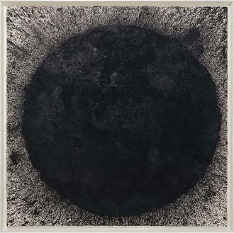 Richard Serra, Calvino, 2009 Paintstick on handmade paper, 78 ½ × 78 ½ inches (199.4 × 199.4 cm)© 2010 Richard Serra/Artists Rights Society (ARS), New York