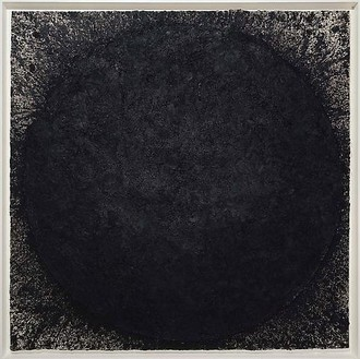 Richard Serra, Borges, 2009 Paintstick on handmade paper, 78 ½ × 78 ½ inches (199.4 × 199.4 cm)© 2010 Richard Serra/Artists Rights Society (ARS), New York