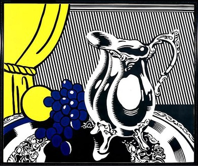 Roy Lichtenstein, Still Life with Silver Pitcher, 1972 Oil and Magna on canvas, 50 × 60 inches (127 × 152.4 cm)© Estate of Roy Lichtenstein