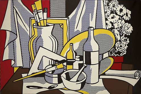 Roy Lichtenstein, Still Life with Palette, 1972 Oil and Magna on canvas, 60 × 96 inches (152.4 × 243.8 cm)© Estate of Roy Lichtenstein