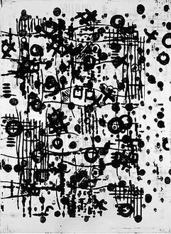 Christopher Wool, Untitled, 1997 Enamel on canvas, 66 × 48 inches (167.6 × 121.9 cm)© Christopher Wool