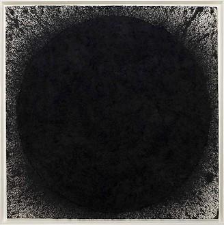 Richard Serra, Beckett, 2009 Paintstick on handmade paper, 82 ½ × 82 ½ inches (209.6 × 209.6 cm)© Richard Serra/Artists Rights Society (ARS), New York