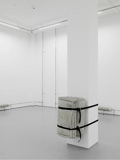 Tatiana Trouvé, Untitled (Mattress), 2010 Concrete and metal, 32 × 23 ⅝ × 22 ⅜ inches (81 × 60 × 57 cm)