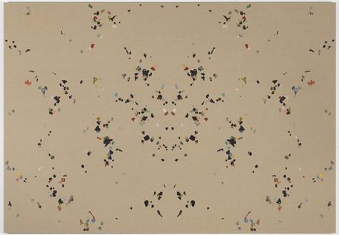 Adam McEwen, New York, New York, 2011 Chewing gum on linen, 90 × 130 inches (228.6 × 330.2 cm)