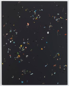 Adam McEwen, Chemnitz, 2011 Acrylic and chewing gum on canvas, 90 × 70 inches (228.6 × 177.8 cm)