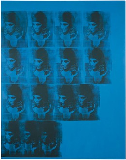 Andy Warhol, Blue Liz as Cleopatra, 1962 Acrylic, silkscreen ink, and pencil on linen, 82 ½ × 65 inches (209.6 × 165.1 cm). Daros Collection, Switzerland© 2011 Andy Warhol Foundation for the Visual Arts/ ARS, NY