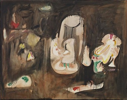 Arshile Gorky, Untitled (Pastoral), c. 1947 Oil and pencil on canvas, 44 × 56 inches (111.8 × 142.2 cm)
