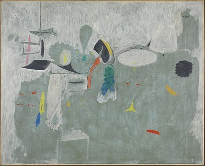 Arshile Gorky, The Limit, 1947 Oil on paper, mounted on canvas, 50 ¾ × 62 inches (128.9 × 157.5 cm)